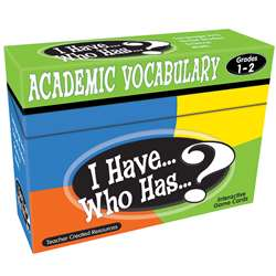 I Have Who Has Gr 1-2 Academic Vocabulary Games, TCR7840