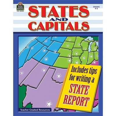 States And Capitals Gr 4-5 By Teacher Created Resources