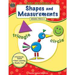 Gr Pk-K Early Math Skills Shapes & Measurements By Teacher Created Resources