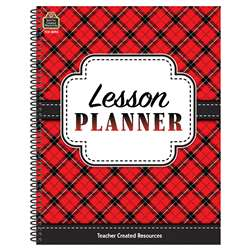 Plaid Lesson Planner, TCR8296
