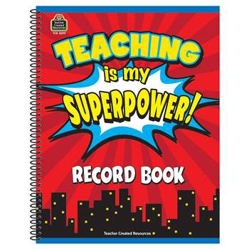 Teaching Is My Superpower Record Book, TCR8299