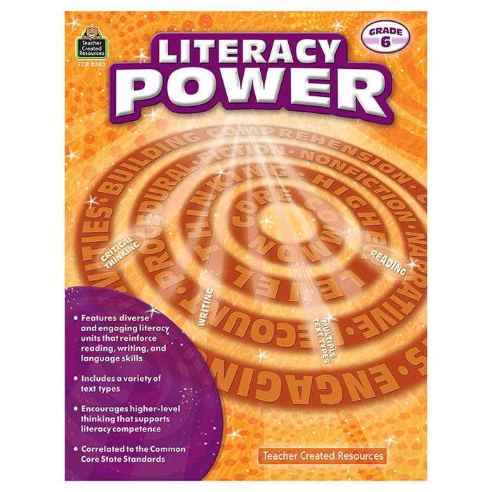 Literacy Power Gr 6, TCR8380