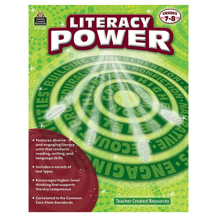 Literacy Power Gr 7-8, TCR8381