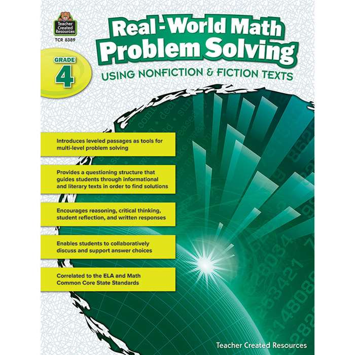 Realworld Math Problem Solving Gr 4, TCR8389
