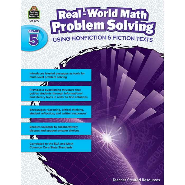 Realworld Math Problem Solving Gr 5, TCR8390