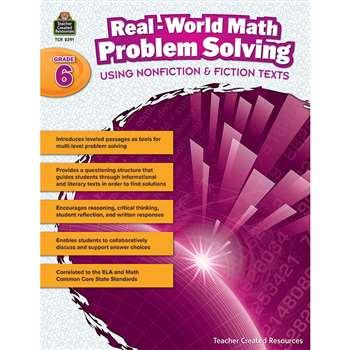 Realworld Math Problem Solving Gr 6, TCR8391