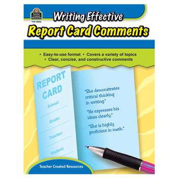 Writing Effective Report Card Comments By Teacher Created Resources
