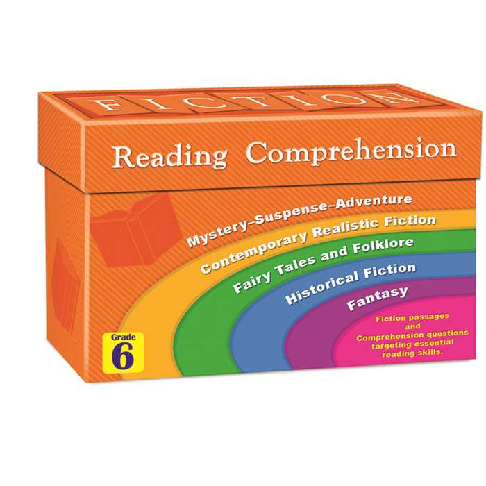 Fiction Reading Comprehension Cards Gr 6 By Teacher Created Resources