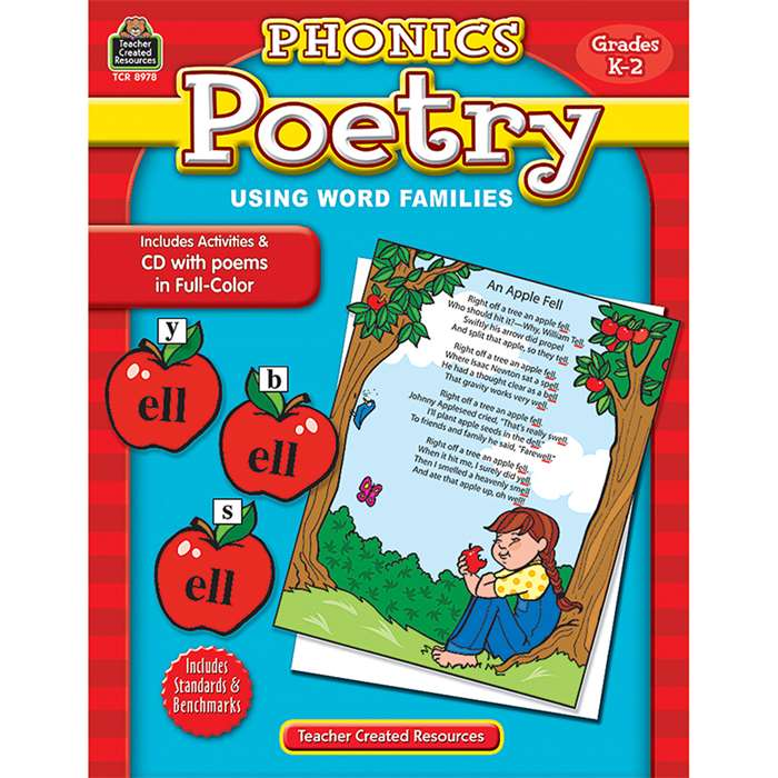 Phonics Poetry Using Word Families W/Cd Grade K-2 By Teacher Created Resources