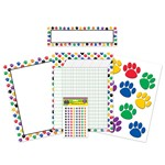 Colorful Paw Prints Classroom Pack By Teacher Created Resources