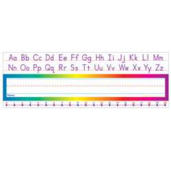 Alphabet-Number Line (Standard) Name Plates By Teachers Friend