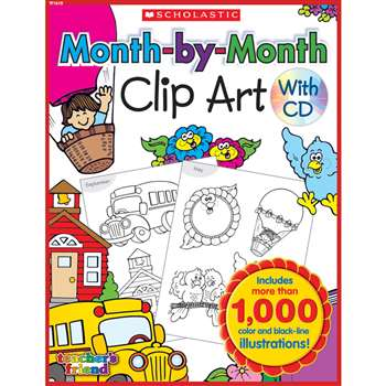Month-By-Month Clip Art Book By Teachers Friend