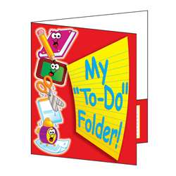 Pocket Folder My To Do Folder 8-1/2 X 11 Plastic-Coated By Teachers Friend