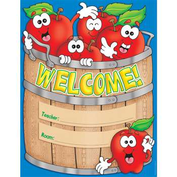 Chart Welcome Basket 17X22 Plastic Coated By Teachers Friend