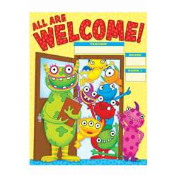Monsters Welcome Chart Gr Pk-5 By Teachers Friend