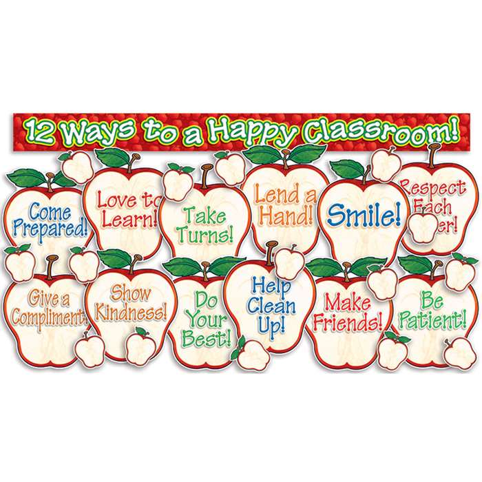 Happy Classroom Apples Bulletin Board Rds By Teachers Friend