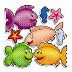 Accent Punch-Outs Fishy Fun 72 Pieces By Teachers Friend