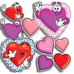 Accent Punch-Outs Valentines/Hearts By Teachers Friend