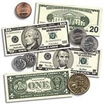 Us Coins & Bills Accent Punch-Outs S By Teachers Friend
