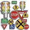 Accent Punch-Outs Safety Signs 36Pk By Teachers Friend