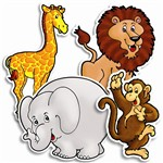 Accent Punch-Outs Zoo Animals 36Pk By Teachers Friend