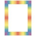 Design Paper Rainbow Gingham 50 Sht 8-1/2 X 11 By Teachers Friend