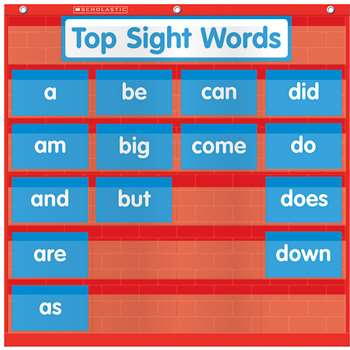 Word Wall Pocket Chart By Teachers Friend