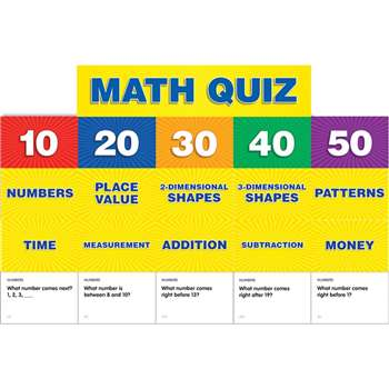 Math Class Quiz Gr K-1 Pocket Chart Add Ons By Teachers Friend