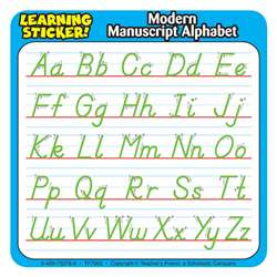 "Modern Manuscript Alphabet Learning Stickers 4""X4"" 20 Ct By Teachers Friend"