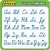"Cursive Alphabet Learning Stickers 4""X 4"" 20 Ct By Teachers Friend"