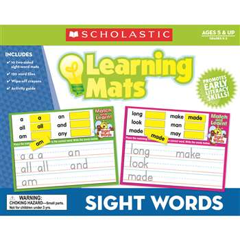 Sight Words Learning Mats By Teachers Friend