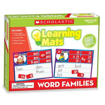Word Family Words Mats By Teachers Friend