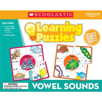 Vowel Sounds Learning Puzzles By Teachers Friend