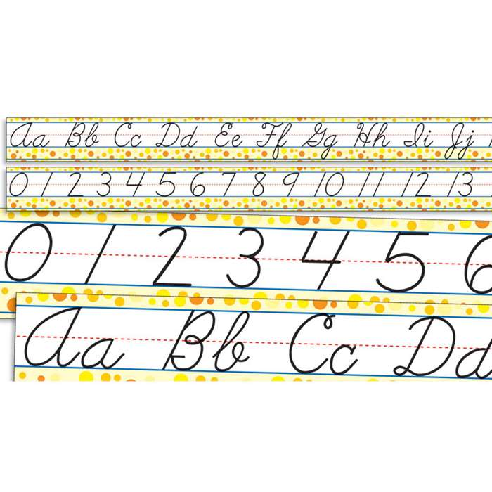 Standard Cursive Alphabet And Numbers 0-30 By Teachers Friend