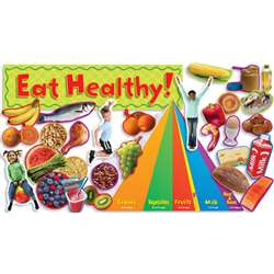 Nutrition W/ Food Pyramid Mini Bbs By Teachers Friend