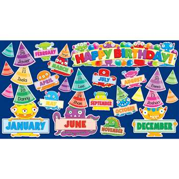 Monsters Birthday Mini Bulletin Board Set By Teachers Friend
