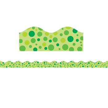 Green Polka Dots Scalloped Trimmer By Teachers Friend