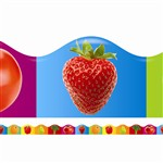 Fruits & Vegetables Scalloped Trimmer By Teachers Friend