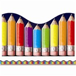 Rainbow Pencils Scalloped Trimmer By Teachers Friend