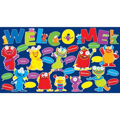 Monsters Welcome Bulletin Board Set By Teachers Friend