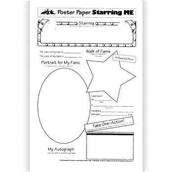 Poster Papers Starring Me 30/Pk 2- Sided 22 X 17 By Teaching Learning