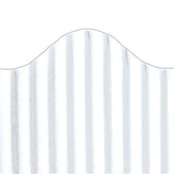 Corrugated Border White, TOP21004