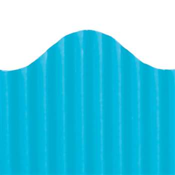 Corrugated Border Brite Blue, TOP21005