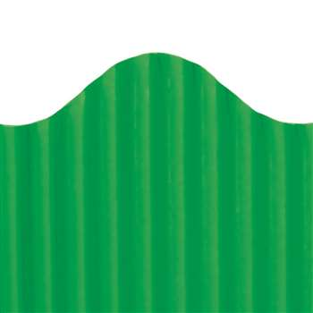 Corrugated Border Deep Green, TOP21010