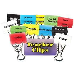 Classes & Days Of Week Teacher Clips 1-1/4In 12Pk By Top Notch Teacher Products