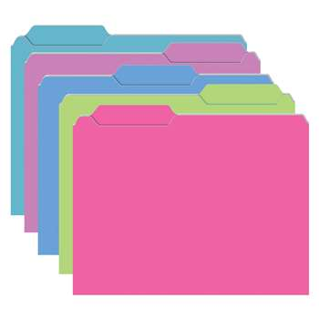 Brite Mini File Folders 10Pk Galactic Assorted By Top Notch Teacher Products