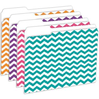 Shop Chevron File Folders 12 Pk - Top3344 By Top Notch Teacher Products