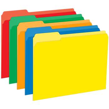 Primary Assorted File Folders Half Cut Assorted Colors 9.5X11.75 10Pk By Top Notch Teacher Products
