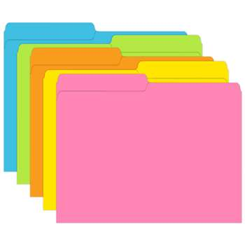 Brite Assorted Mini File Folders By Top Notch Teacher Products