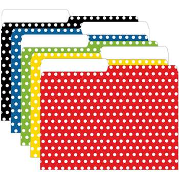 Mini File Folders Assorted Polka Dots By Top Notch Teacher Products